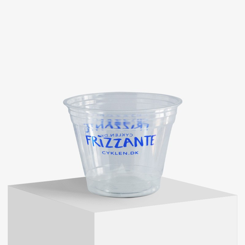 Frizzante printed plastic cups with logo