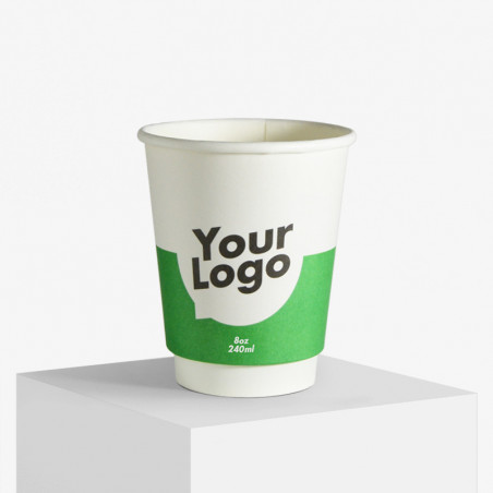 Double wall paper cups with print